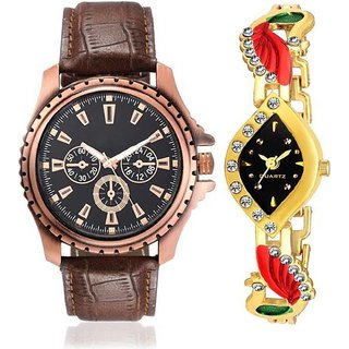 TRUE CHOICE KR 11 AND DAIMOND MORE GOLD ANALOG WATCH FOR COUPLE.