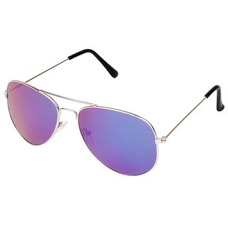 Aligator Blue UV Protection Aviator Unisex Sunglasses