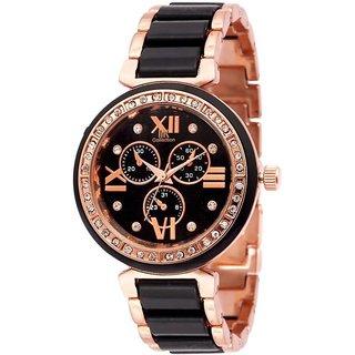 blackbuck iik rose black woman analog watch 6 month warranty