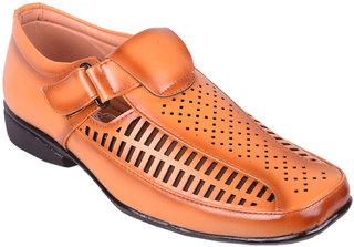 BB LAA 973-Tan Valcro Comfortable Men's Sandals