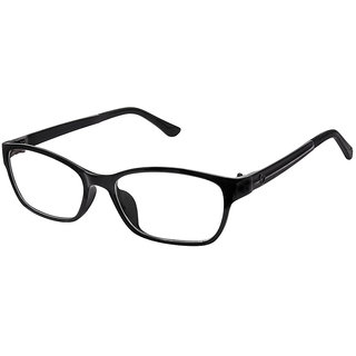 Cardon Matte Black Rectangular Full Rim Eyeglass