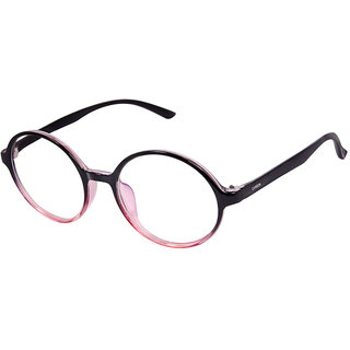 Cardon Black Pink Round Full Rim Eyeglass