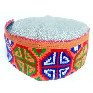 Tahiro Multicolour Cotton Pahari Topi - Pack Of 1