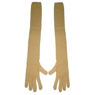 EquatorZone Unisex Beige Long Full Sleeves Sun Protective Gloves For Bike Riding (1 Pair)