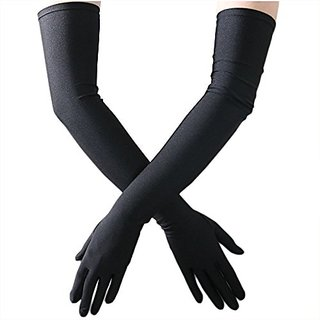 EquatorZone Men's Black Full Hand Summer Gloves For Protection From Sun Burn/Heat/Pollution (1 Pair) Free Shipping  COD Available