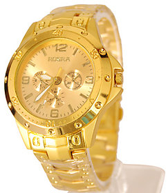 i DIVA'S  NEW FULL GOLD ROSRA Watch For Men 6 month warranty