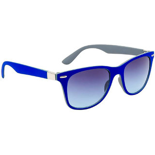 Crazy Eyez Blue UV Protection Wayfarer Unisex Sunglasses