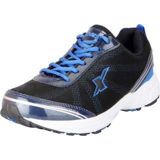Sparx Mens Black Royal Blue Mesh Sports Running Shoes