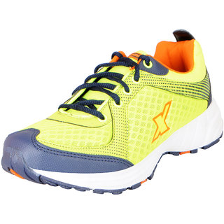 Sparx Mens Green Orange Mesh Sports Running Shoes