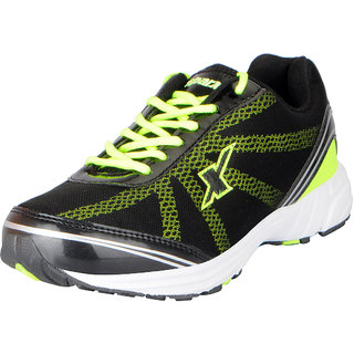 Sparx Mens Black Green Mesh Sports Running Shoes