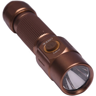 GOR 200M Rechargeable LED Flashlight Torch 4.8 Inch Gold