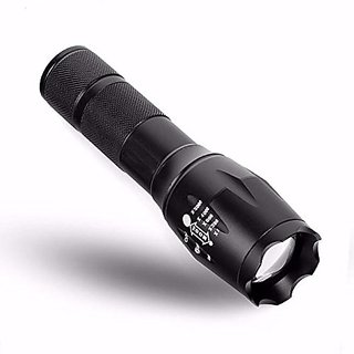 GOR Sun 200M Zoomable Rechargeable LED 4 Modes Flashlight 5.2 Inch Torch
