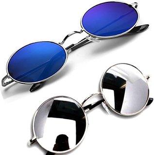 Combo-2 Round Mirrored Sunglasses