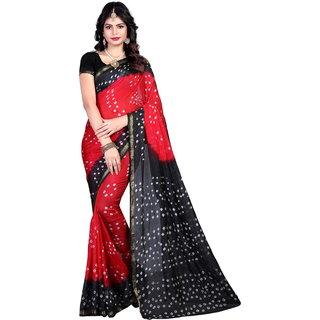 Svb Saree Multicolour  Tussar silk  Bandhani saree