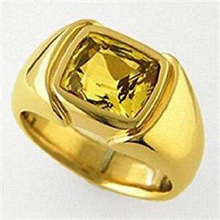 Natural Yellow Sapphire Ring Ceylon Pukhraj Ring Jaipur Jemstone