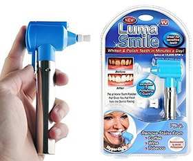 luma Tooth Polisher Whitener Stain Remover with LED Light Luma Smile Rubber Cups