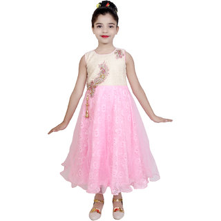 c67c421889c Buy KBKIDSWEAR Girl s Party-Wear Premium Net Ball Gown Online - Get ...