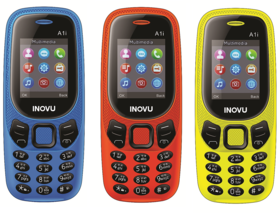 Inovu A1i (Dual Sim, 1.77 Inch Display, 800 Mah Battery) - COMBO OF THREE DIFFERENT COLOR (BLUE,ORANGE,YELLOW)