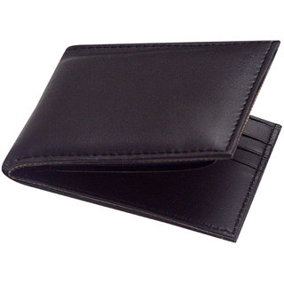 Unique Collections Black Genuine Leather Wallet For Men (Spr-01) (Synthetic leather/Rexine)
