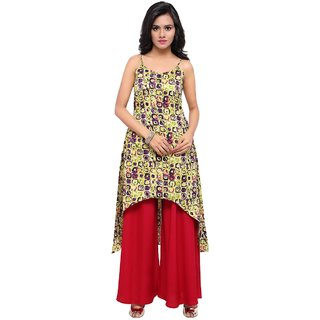 Aagaman Multi Silk Casual Wear Printed Salwar Kameez