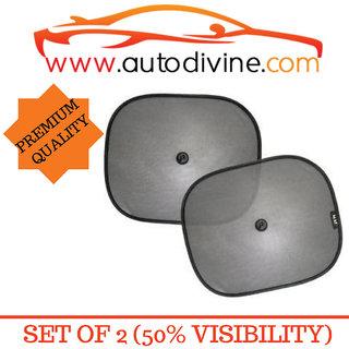 Premium Quality Vaccum Cup Sticky Car Sun Shade with 50 Visibity for Hyundai Elantra Fludic (Set of 2 Sun Shade 2 Su