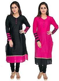 Dot Combo Semi Stitched Indo Cotton Printed Kurti By Omstar Fashion