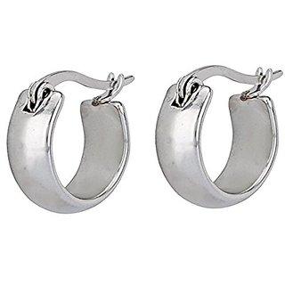 4144b9d9b2357 Korean Steel Cambered Creole Hoop Sleeper Stud Earrings Unisex 2Pcs