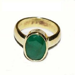 Emerald Ring Emerald Panna Stone Natural  Unhetaed Jaipur Gemstone