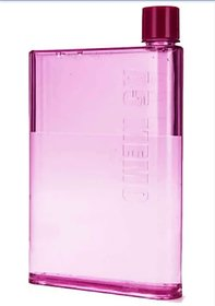 Slim water bottle/book bottle, Pink, 420 Ml