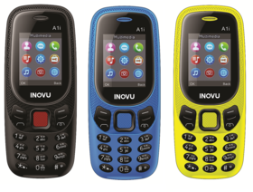 Inovu A1i (Dual Sim, 1.77 Inch Display, 800 Mah Battery) - COMBO OF THREE DIFFERENT COLOR (BLACK,BLUE,YELLOW)