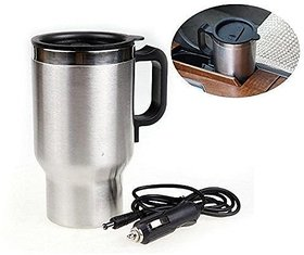Car Travel Electric Mug Stainless Steel Leakproof Mug For Hot Coffee Drinks Spill Proof Cup by shopaddictions