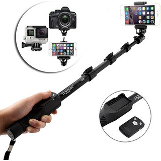 Hy Touch 1288 Bluetooth Shutter Extendable Handheld Monopod Holder Selfie Stick