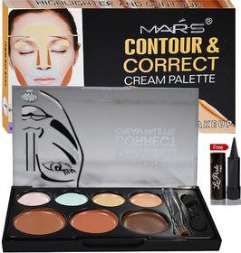 Mars Contour Correct Cream Palette (CONCEALER) With Laperla kajal