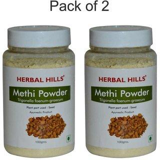 Herbal Hills Natural Fenugreek or Methi seeds powder (trigonella foenum-graecum) 100gms-Pack of 3 - Diabetes & inflammation