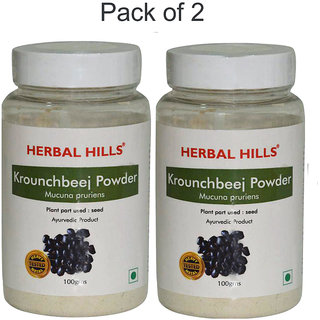 Herbal Hills Natural Kaunch beej powder (Mucuna pruriens) 100gms-Pack of 2 - Male power