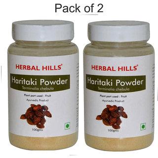 Herbal Hills Natural Haritaki powder  (Terminali Chebula) Harad Powder 100gms-Pack of 2 - colon cleanser