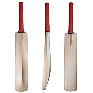 Nude Poplar Willow Bat(red grip)