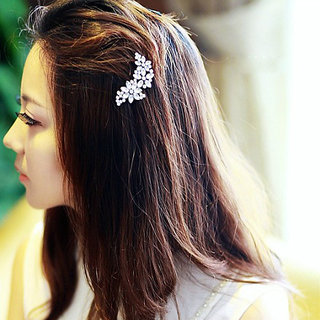 Crystal Metal Flower Rhinestone Hair Clip Headwear Hairpin Hair Accessory