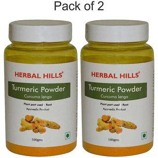 Herbal Hills Turmeric or Haldi / Haridra (Curcuma Longa) Powder 100gms-Pack of 2 - Anti-Inflammatory