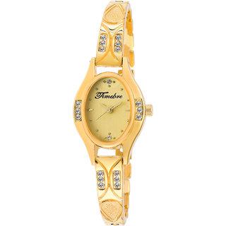 Timebre Women Ivory Luxurious Golden Analog Watch