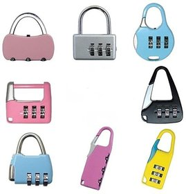 Padlock with 3 Digit Re-settable Password Protected code (Set of 2)