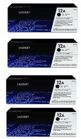 HP 12A  Q2612A 4 pack