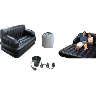 Bestway 5 In 1 Inflatable Sofa Air Bed Couch With Free Electric Pump by Shopaddictions