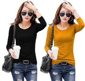 Raabta Black And Mustard Tshirt