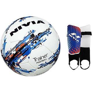COMBO NIVIA TRAINER FOOTBALL + SPEEDY SHIN GUARD