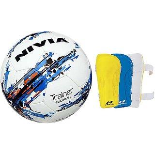 COMBO NIVIA TRAINER FOOTBALL + VORTEX SHIN GUARD