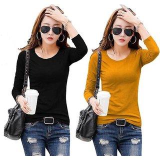 Raabta Black And Mustard Tshirt