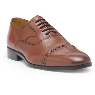 HATS OFF ACCESSORIES Hats Off Metallic Brown Oxford Shoes For Mens