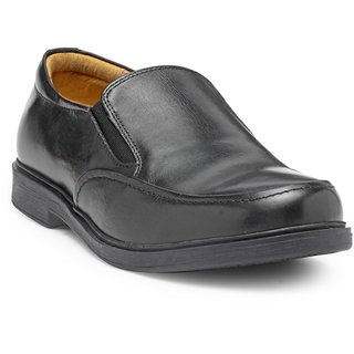 HATS OFF ACCESSORIES Genuine Leather Black Slip On Shoes For Mens (HOA-AW1718)