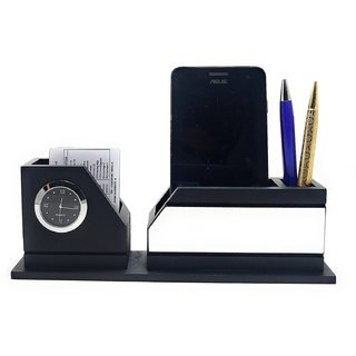 9cf0cc9e4c0c0 Buy CrownLit Black Color Wooden Desk Table Organizer